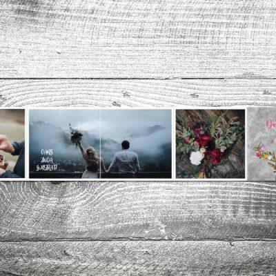 Danke Flower-Power-Hirsch Leporello