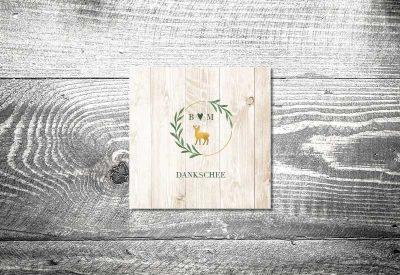 kartlerei bayrische dankeskarten hochzeit leporello klappkarte goldener hirsch 400x275 - Dankeskarte mit Fotostreifen