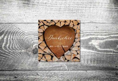 kartlerei bayrische dankeskarten hochzeit leporello klappkarte herzchenstapel 400x275 - Dankeskarte mit Fotostreifen