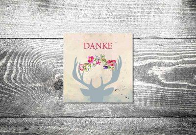 kartlerei bayrische dankeskarten hochzeit leporello klappkarte hirsch 400x275 - Dankeskarte mit Fotostreifen