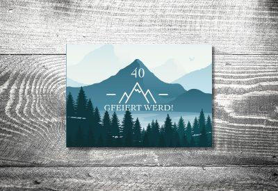 kartlerei bayrische einladungskarten geburtstag bayerische einladung alpenliebe 400x275 - Geburtstagseinladung auf Bayrisch