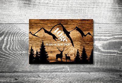 kartlerei bayrische einladungskarten geburtstag bayerische einladung alpenpanorama 400x275 - Geburtstagseinladung auf Bayrisch