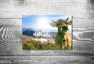 kartlerei bayrische einladungskarten geburtstag bayerische einladung muh 400x275 - Geburtstagseinladung auf Bayrisch
