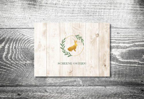 Goldener Hase | 2-Seitig