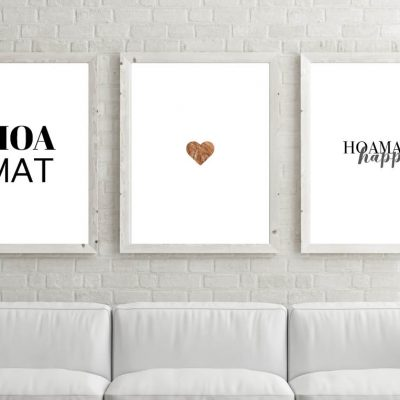 Poster-Set Happy Hoamat