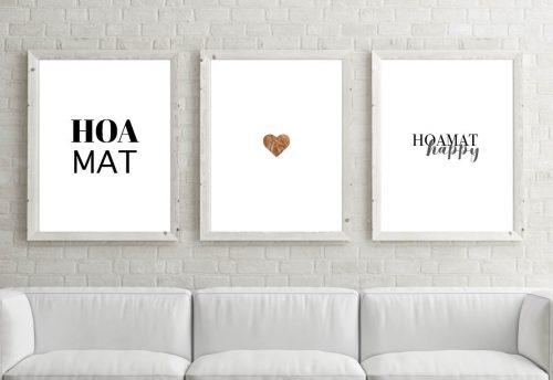 Poster-Set Happy Hoamat