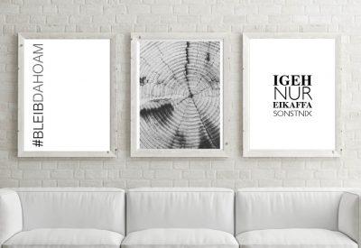 Poster set bleib dahoam stayhome corona kartlerei 3 400x275 - Poster & Bilder