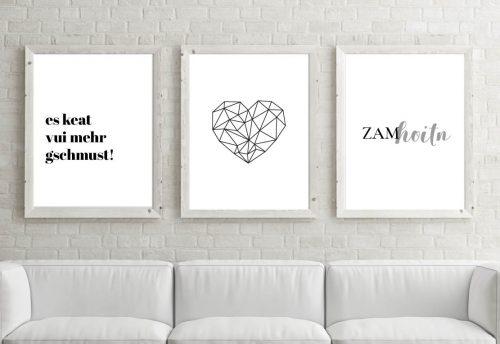 Poster-Set Zamhoitn
