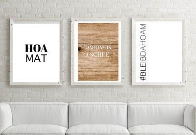 Poster set bleib dahoam stayhome corona kartlerei 6 400x275 - Poster & Bilder