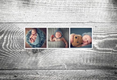 Geburtskarte Fotostreifen