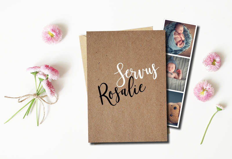 kartlerei bayrische geburtskarten fotostreifen 3 - Bayrische Geburtskarten