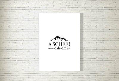 kartlerei bayrische poster shop dahoam is a schee berge 400x275 - Poster & Bilder