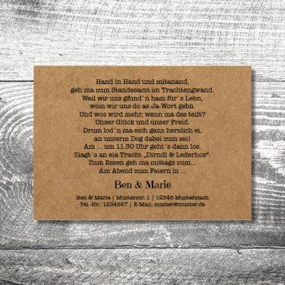Hochzeit Edelhirsch Kraftpapier | 2-Seitig