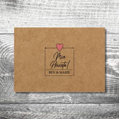 Hochzeit Herzl Kraftpapier | 2-Seitig