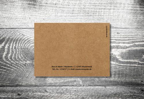 Hochzeit Herzl Kraftpapier | 4-Seitig