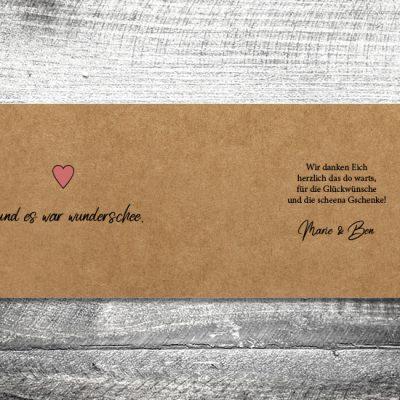 Danke Herzl Kraftpapier | 4-Seitig