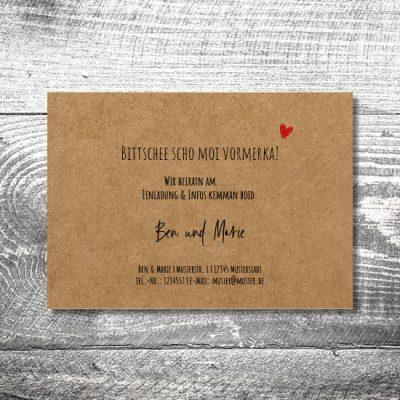 Save the Date Liab Kraftpapier
