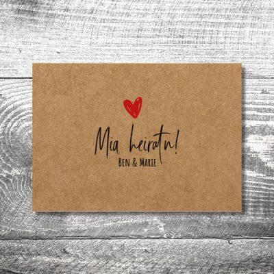 Hochzeit Liab Kraftpapier | 4-Seitig