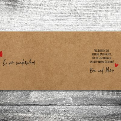 Danke Liab Kraftpapier | 4-Seitig