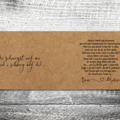 Hochzeit Tracht Kraftpapier | 4-Seitig