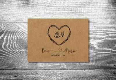 kartlerei bayrische hochzeitkarten kraftpapier tracht7 400x275 - Dankeskarte mit Fotostreifen