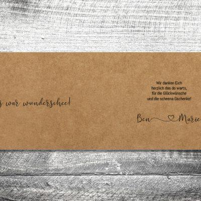 Danke Tracht Kraftpapier | 4-Seitig