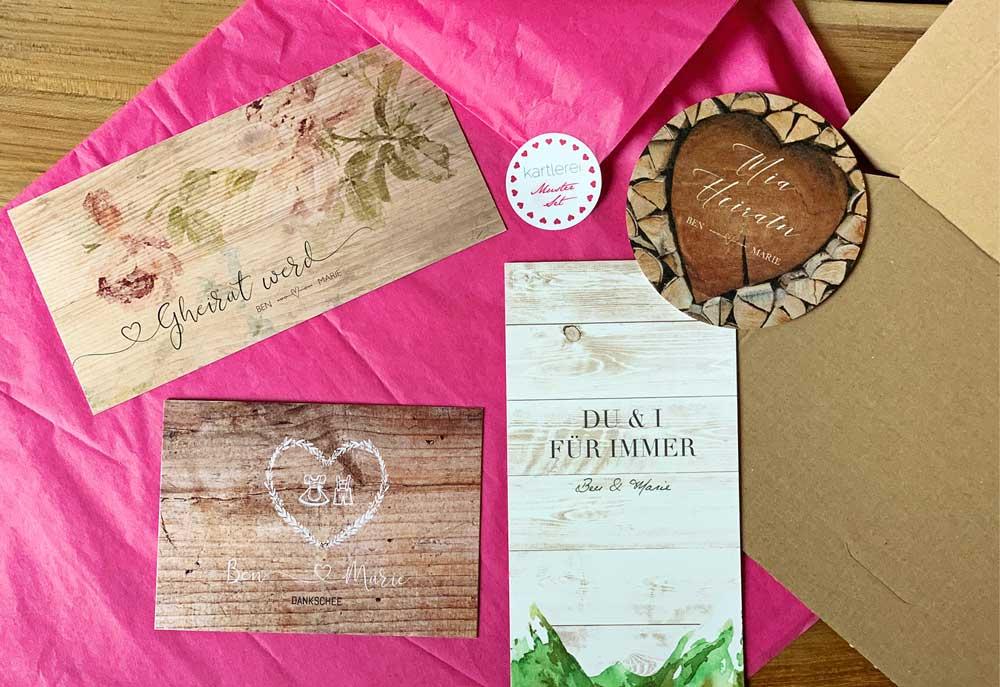 kartlerei bayrische hochzeitseinladung musterkarte musterset2 - Hochzeitskarten Set