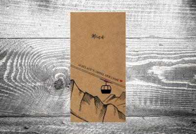 kartlerei bayrische hochzeitskarten menuekarten kraftpapier 400x275 - Bierdeckel drucken als Menükarte Hochzeit