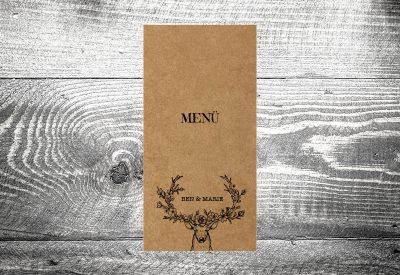 kartlerei bayrische hochzeitskarten menuekarten kraftpapier3 400x275 - Bierdeckel drucken als Menükarte Hochzeit