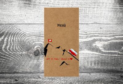 kartlerei bayrische hochzeitskarten menuekarten kraftpapier7 400x275 - Bierdeckel drucken als Menükarte Hochzeit