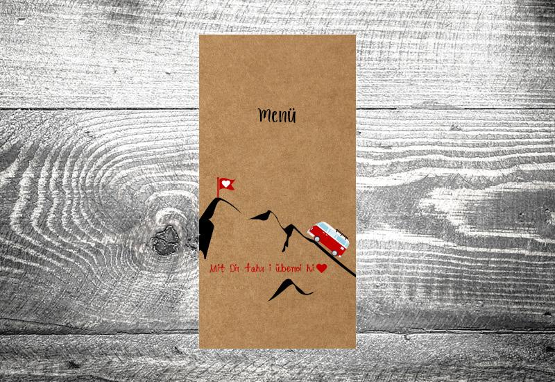 kartlerei bayrische hochzeitskarten menuekarten kraftpapier7 - Foto Rosi Retro Fotobox