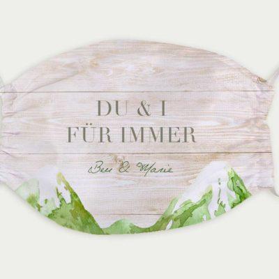 Maske Hochzeit Bergliebe Sommer