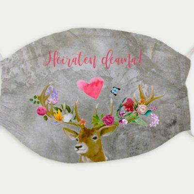 Maske Hochzeit Flower-Power-Hirsch