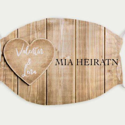 Maske Hochzeit Herzl