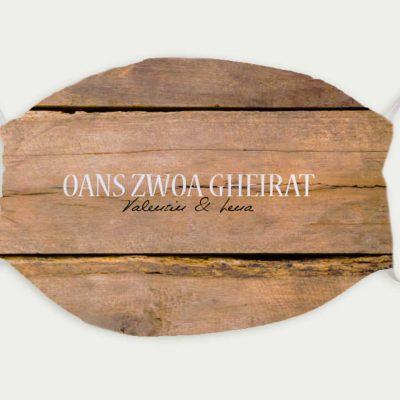 Maske Hochzeit Holz Rustikal