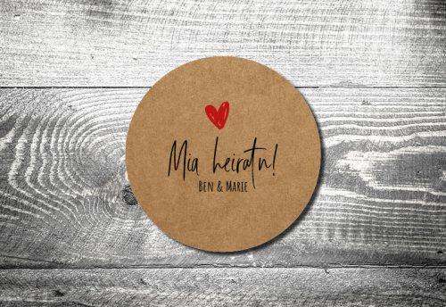 Bierdeckel Hochzeit Liab Kraftpapier
