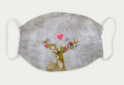 kartlerei bayrische masken flower power hirsch 400x275 - Bayrische Mund-Nasen-Masken