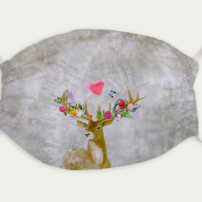 Maske Flower-Power-Hirsch 9,90 €