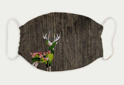 kartlerei bayrische masken hirsch blumenhirsch 400x275 - Bayrische Mund-Nasen-Masken
