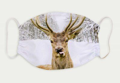kartlerei bayrische masken hirsch winter 400x275 - Bayrische Mund-Nasen-Masken