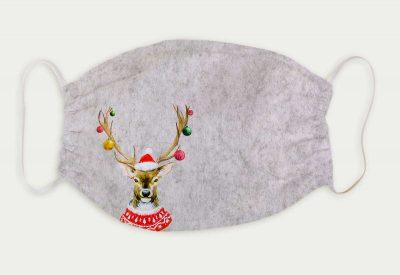 kartlerei bayrische masken weihnachten weihnachtsmaske hirsch weihnachtsbaum weihnachtskugeln 400x275 - Bayrische Mund-Nasen-Masken