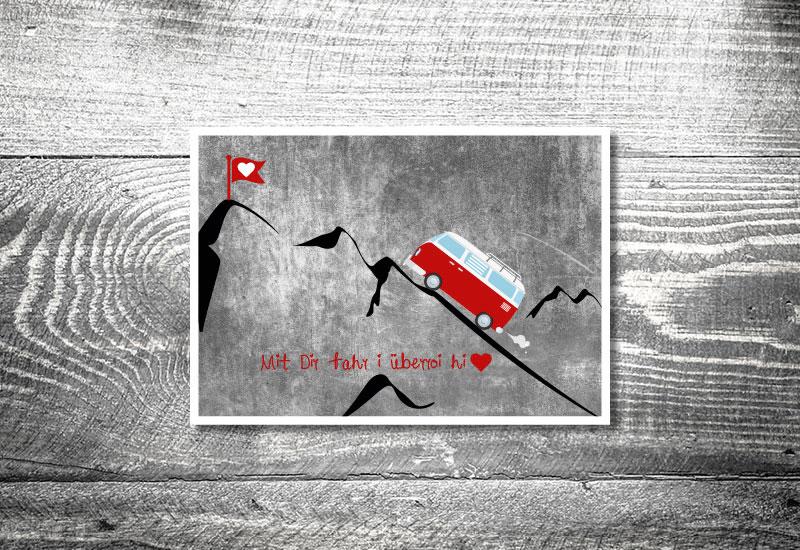 kartlerei bayrische postkarten vwbus rosi - Foto Rosi Retro Fotobox