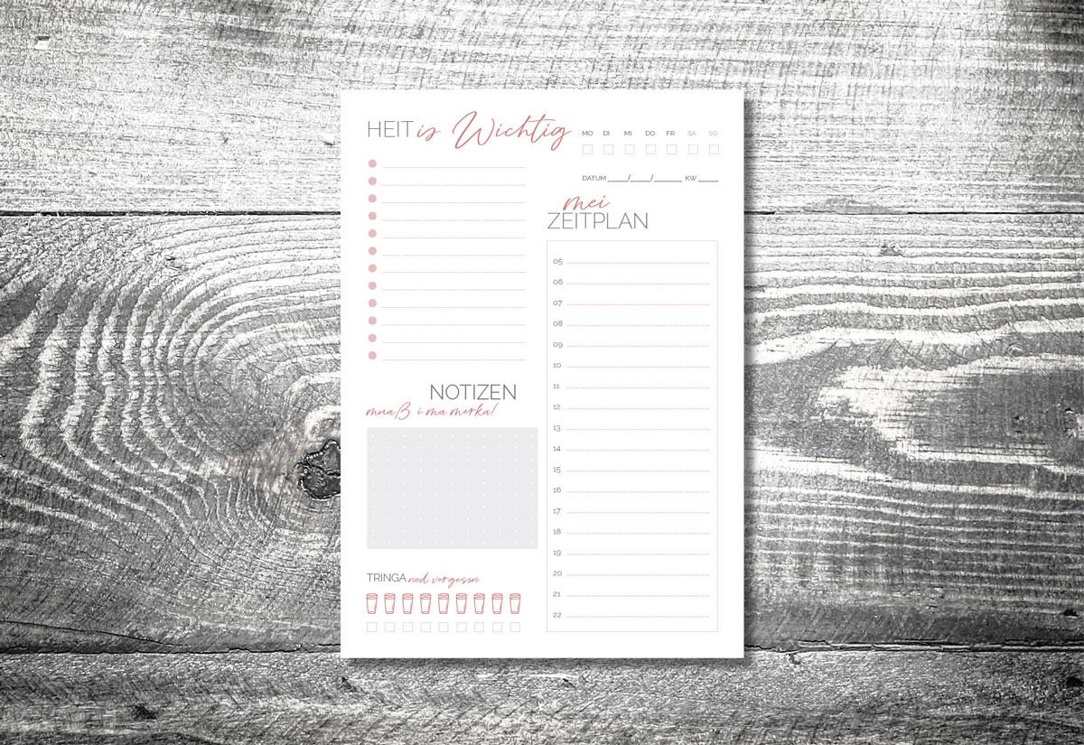 kartlerei kartlerei bayrischer kalender wochenplaner to do planer tagesplaner - Home