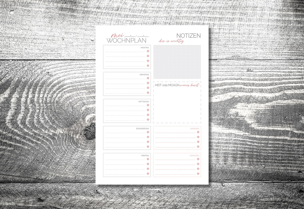kartlerei kartlerei bayrischer kalender wochenplaner to do planer - Home