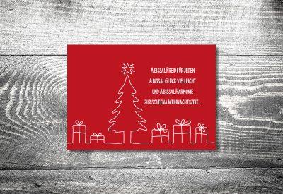 kartlerei weihnachtskarten bayrische weihnachtskarten geschenke tannenbaum 400x275 - Weihnachtskarten auf bayrisch