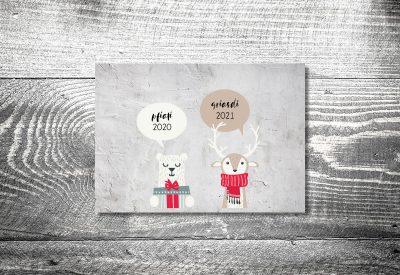 kartlerei weihnachtskarten bayrische weihnachtskarten pfiati griasdi 400x275 - Weihnachtskarten auf bayrisch