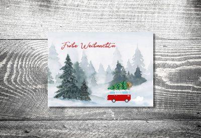 kartlerei weihnachtskarten bayrische weihnachtskarten vwbus 400x275 - Weihnachtskarten auf bayrisch