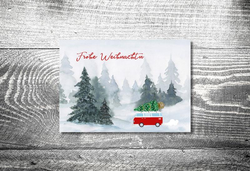 kartlerei weihnachtskarten bayrische weihnachtskarten vwbus - Foto Rosi Retro Fotobox