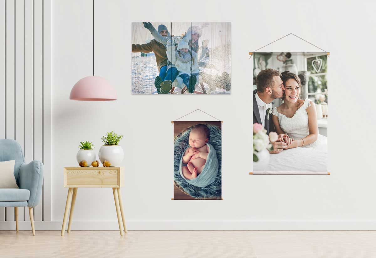 kartlerei wandbilder holzbild eigenes foto motiv leinwand drucken lassen holzbild textilposter poster hochzeit baby geburtstag - Home