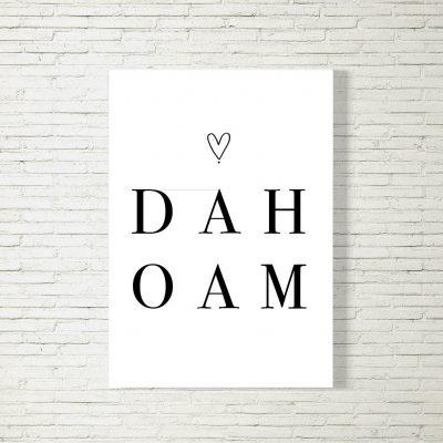 Poster/Bild DAHOAM HERZ